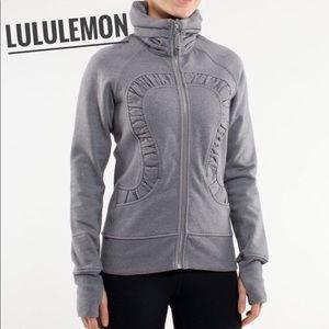 RARE ✨ LULULEMON Gray Glitter Cuddle Up Jacket 4